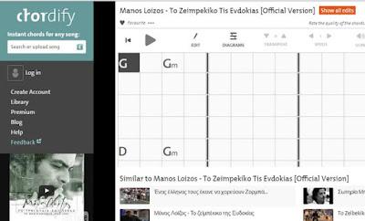 Αυτόματη εύρεση συγχορδιών από τραγούδια στο youtube