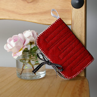 Red brick Needle Book from Loft Full of Goodies
