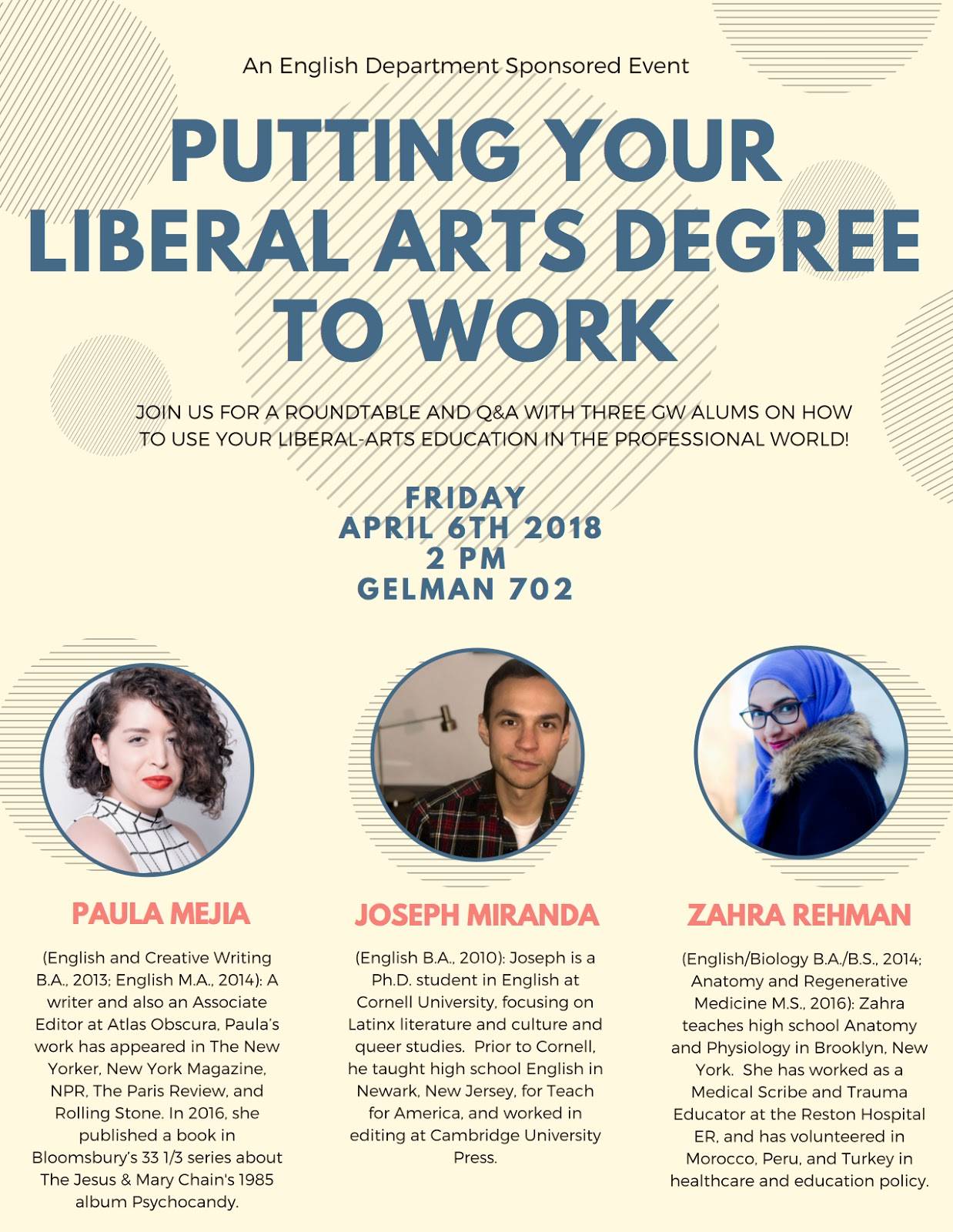 An English Department Sponsored Event: Putting Your Liberal Arts ...