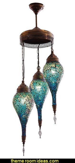 Mosaic Chandelier  Moroccan decorating ideas - Moroccan decor - Moroccan furniture - decorating Moroccan style - Moroccan themed bedroom decorating ideas - Exotic theme decorating - Sultans Palace - harem style bedrooms Arabian nights Moroccan bedroom furniture - moroccan wall decoration ideas