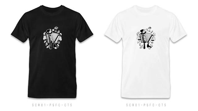 SCR01-P5FC-CTS Cartoon T Shirt Design, Custom T Shirt Printing