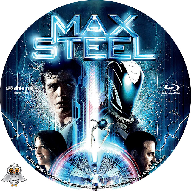 Max Steel Bluray Label