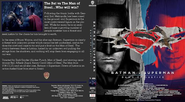 Batman v Superman: Dawn of Justice Bluray Cover