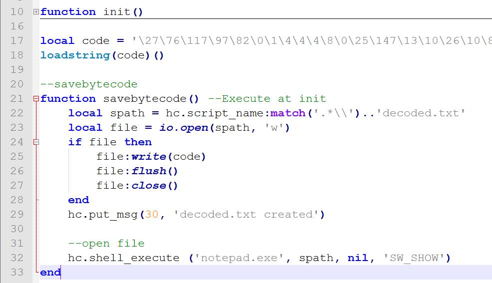 Handycache Resources: Deobfuscate/Decode Lua's loadstring