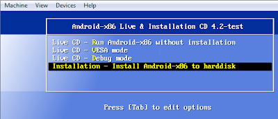 Install and Run Android on Virtual Box