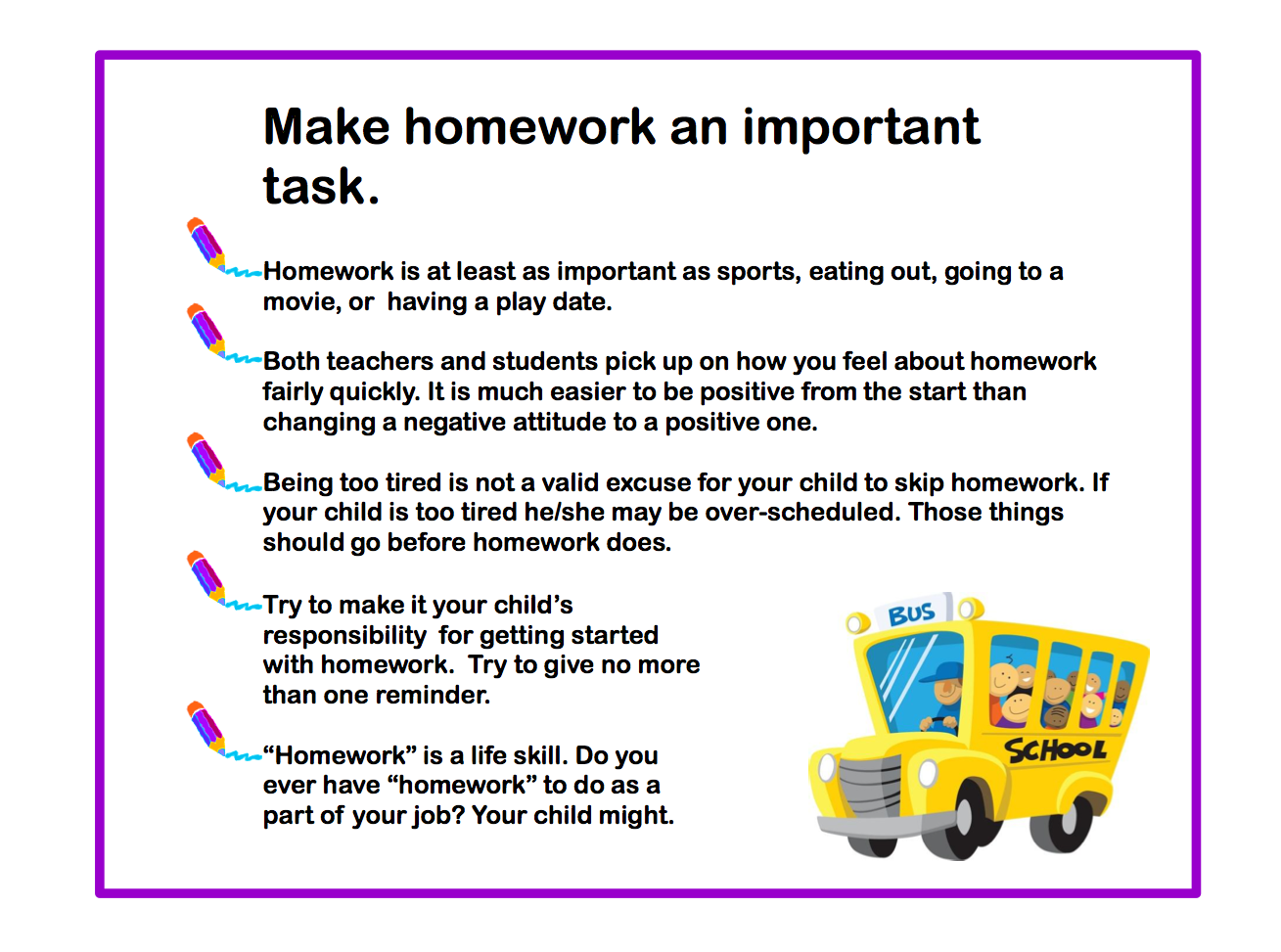 Tips to help parents with homework