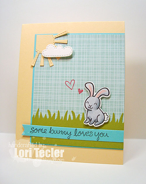 Some Bunny Loves You card-designed by Lori Tecler/Inking Aloud-stamps from Lawn Fawn