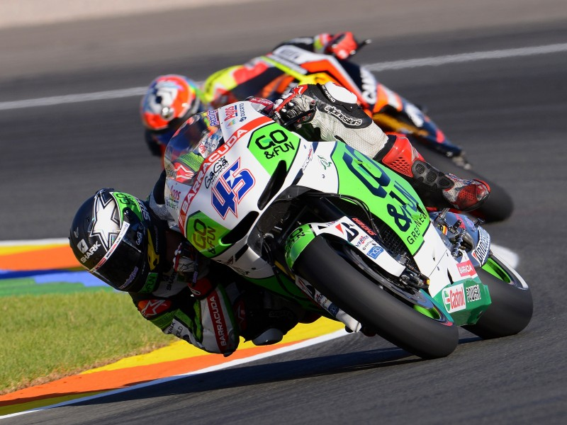 Download Two Motorcycle Racers Turning at Corner HD wallpaper. Click Visit page Button for More Images.