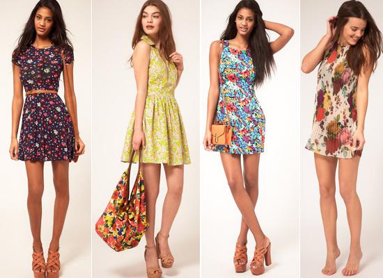 Vestidos Cortos Floreados Florales Moda Y Belleza Para La