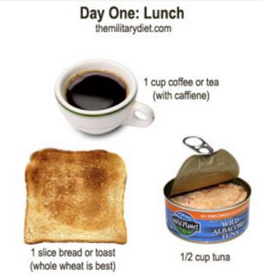 diet military 3 hari