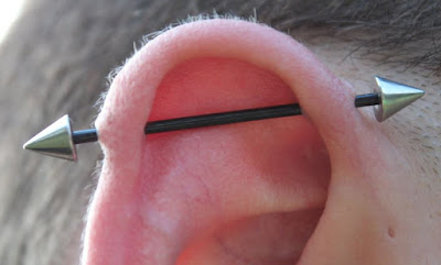 Industrial Piercing - Jewelry, Pain, Healing, Cost, Aftercare