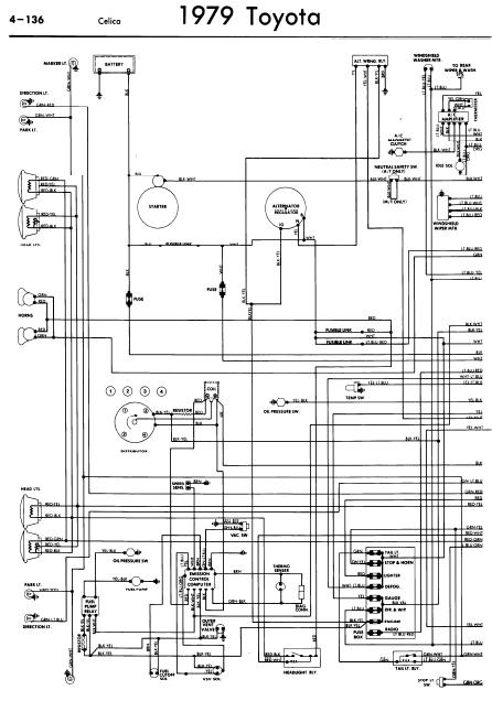repair-manuals: Toyota Celica A40 1979 Wiring Diagrams