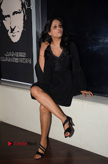 Actress Leena Pictures in Black Dress at Dr Chakravarthy Movie Audio Launch 0049