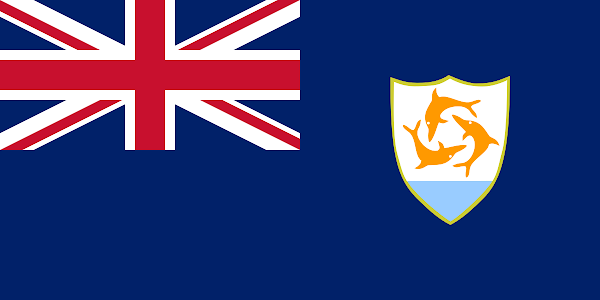 Logo Gambar Bendera Negara Anguilla PNG JPG ukuran 600 px