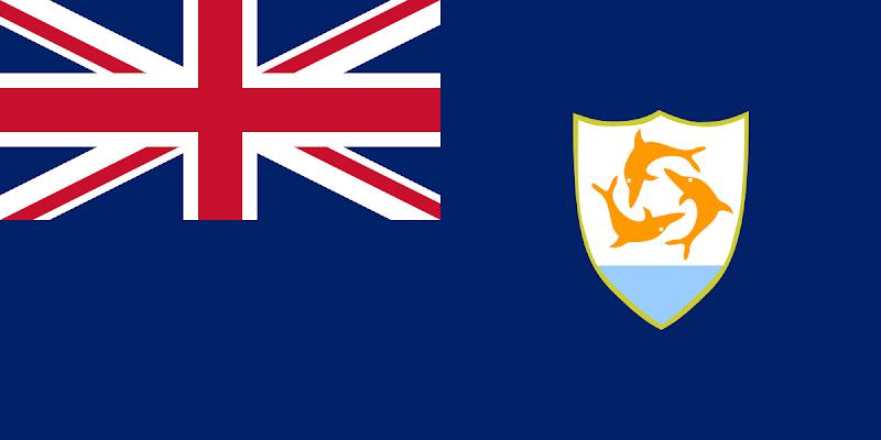 Logo Gambar Bendera Negara Anguilla PNG JPG ukuran 800 px