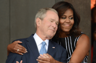 Michelle Obama Gives George W. Bush A Big Hug, Nation Goes Wild