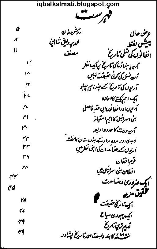 Afghanon Ki Nasli Tareekh