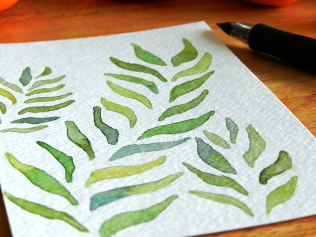 Watercolor Leaf Illustration