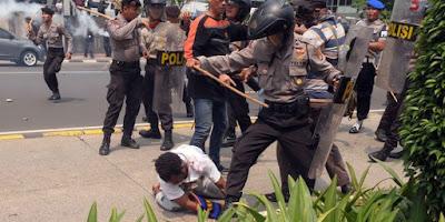 Pemukulan mahasiwa Papua di Bundaran HI