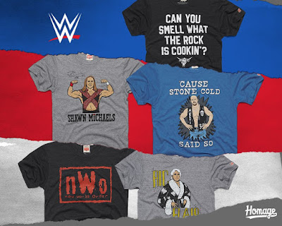 WWE Attitude Era T-Shirt Collection by HOMAGE
