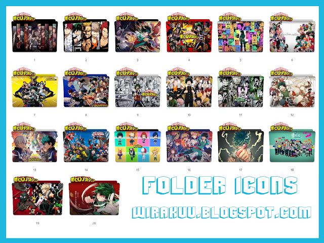 Folder Icons Anime Boku no Hero Academia