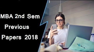 MBA 2nd Sem Previous Question Papers 2018 Mdu (Maharshi Dayanand University)
