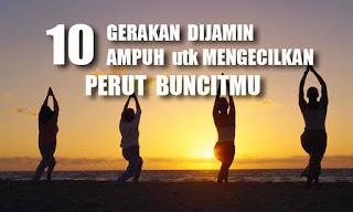 10 Gerakan Untuk Menegecilkan PERUT BUNCIT | Part-1