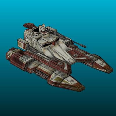 Star Wars Hover Tank Paper Model