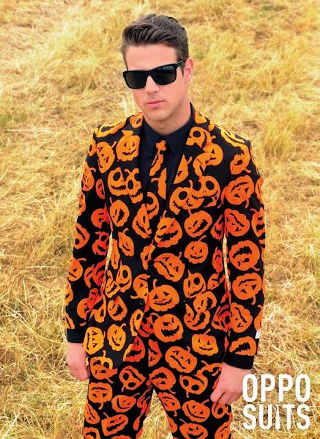 Fantasia para halloween o que não vestir, terno de aboboras