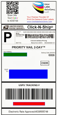 color-shipping-label