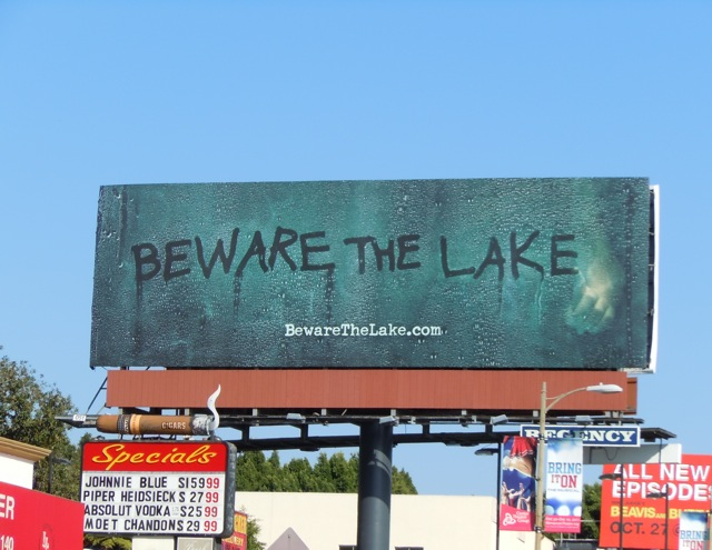 Beware The Lake teaser billboard