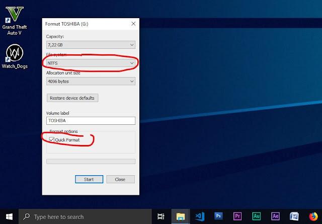NTFS dan Quick Format