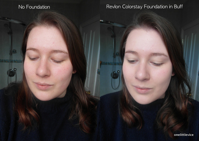 One Little Vice Beauty Blog: Revlon Colorstay Foundation Oily/Combo Skin Buff Swatches