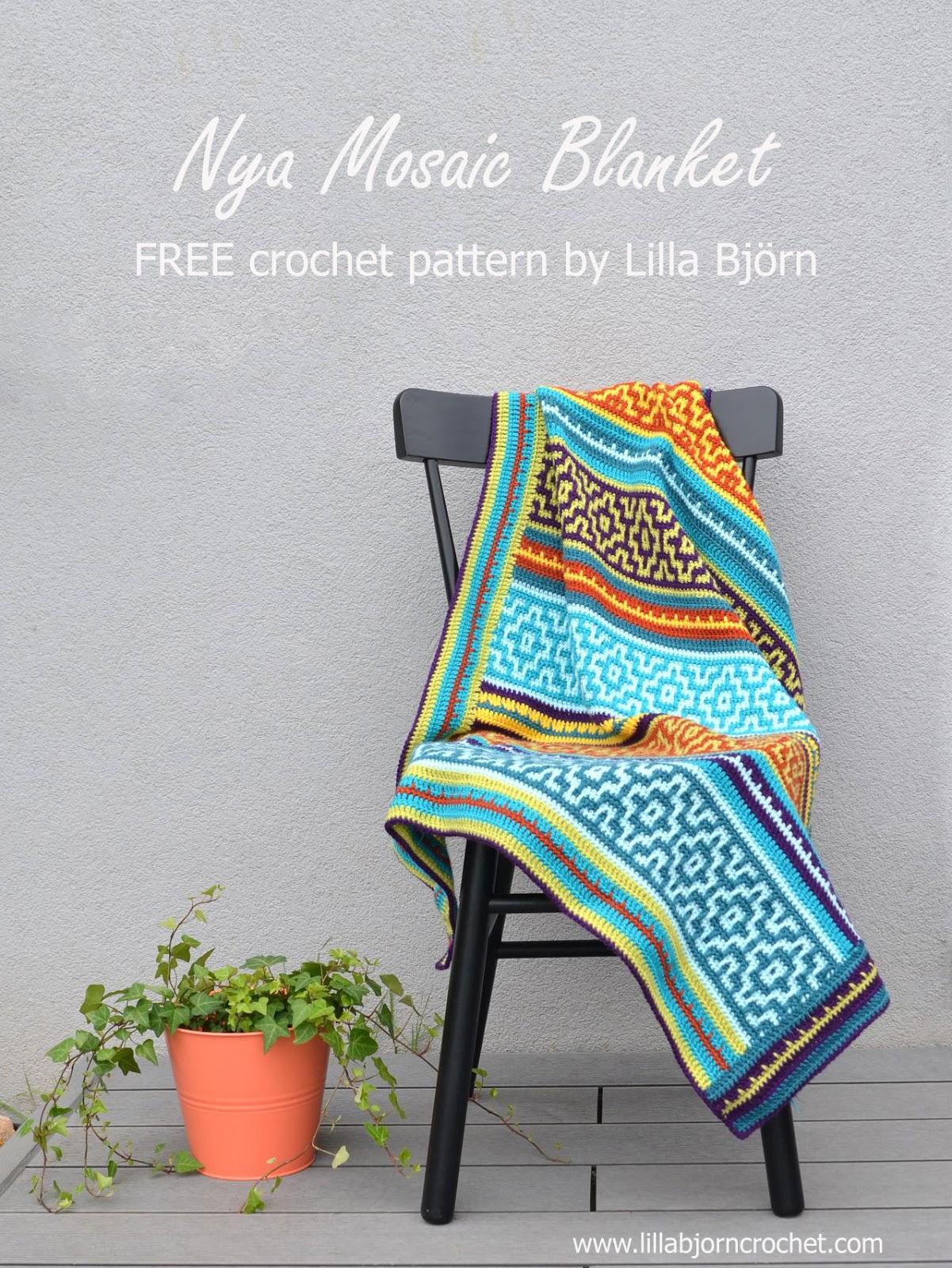 Nya Mosaic Blanket   FREE Crochet Pattern By Www.lillabjorncrochet.com
