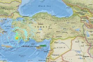 6.7-magnitude quake off Greece and Turkey resorts