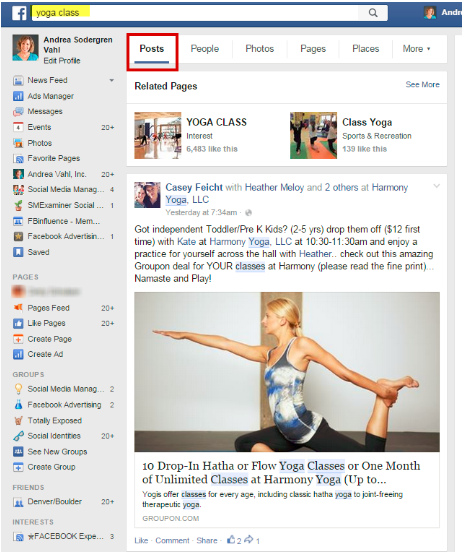 How To Search Post In Facebook