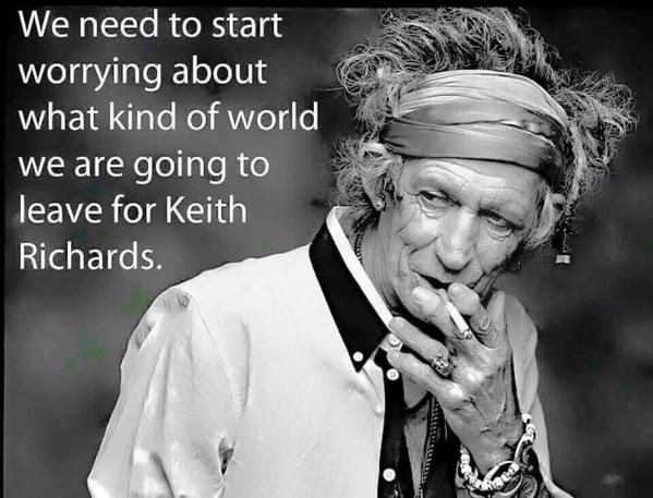 Keith Richards, in his 70's smoking
