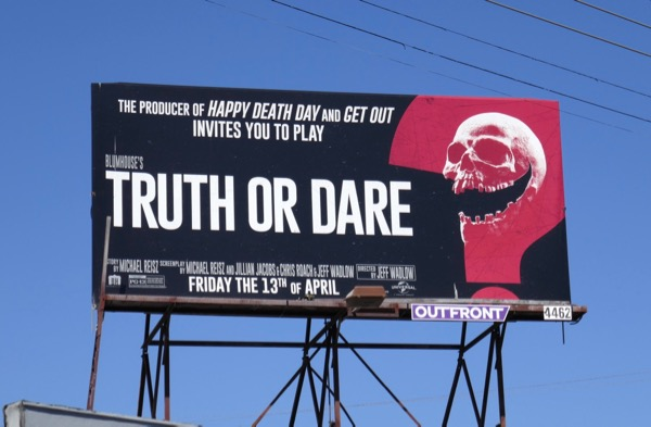 Blumhouse Truth or Dare billboard