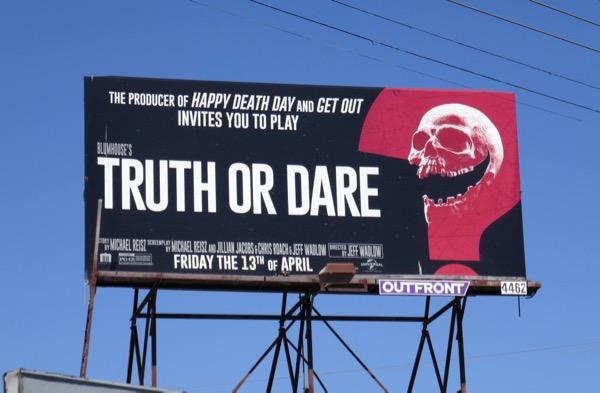 Blumhouse Truth or Dare billboard