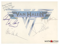 Van Halen 1978 Fully Band Signed Card