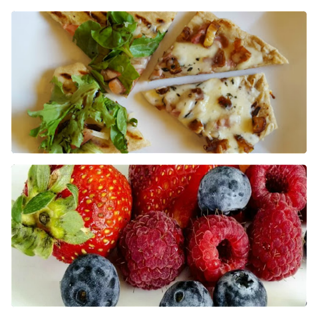 grilled pizza and healthy foods to eat