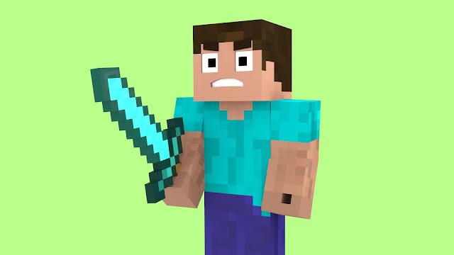 Steve con espada minecraft