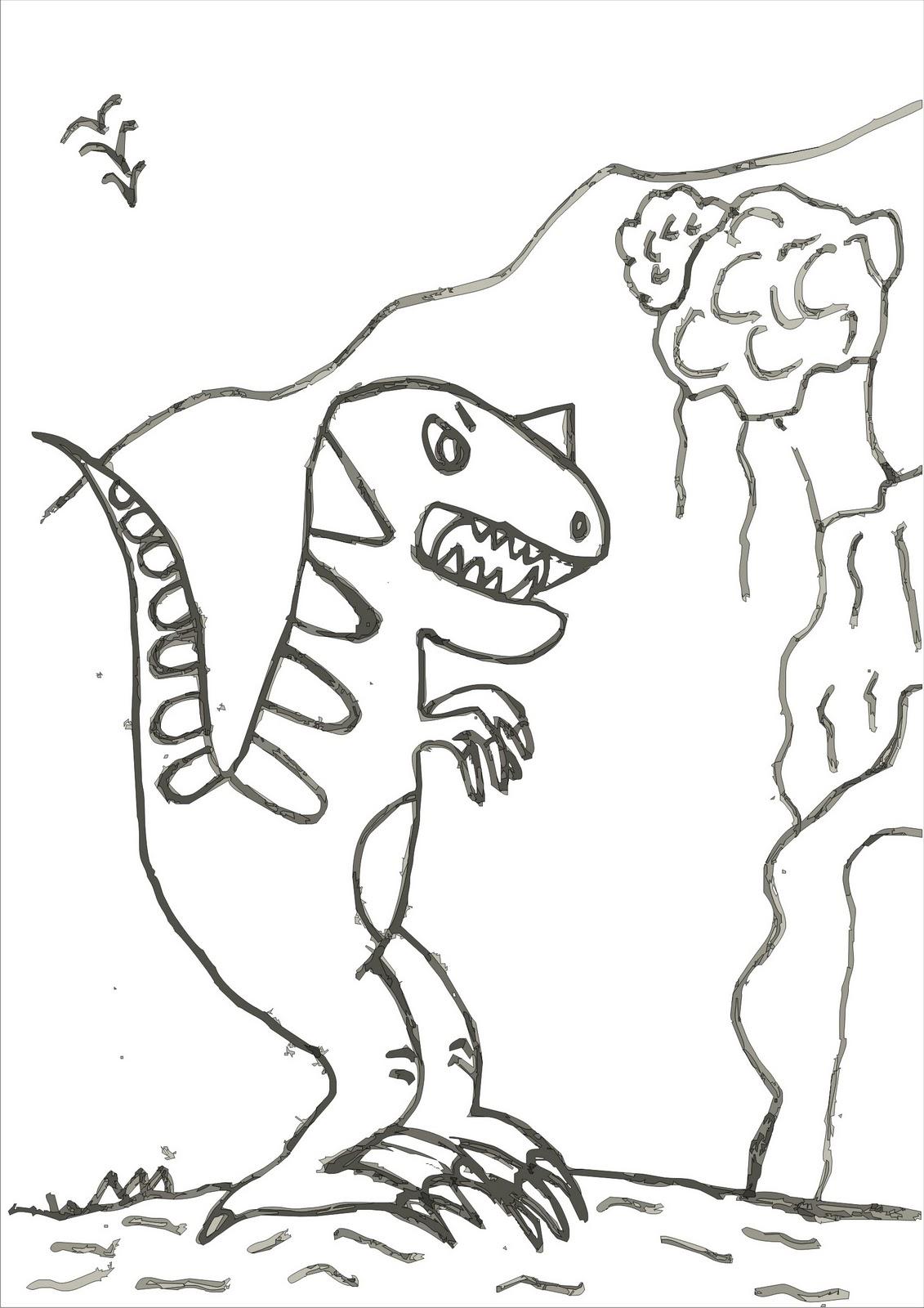 Desenhos Para Colorir Desenho Para Colorir De Dinossauro Desenho