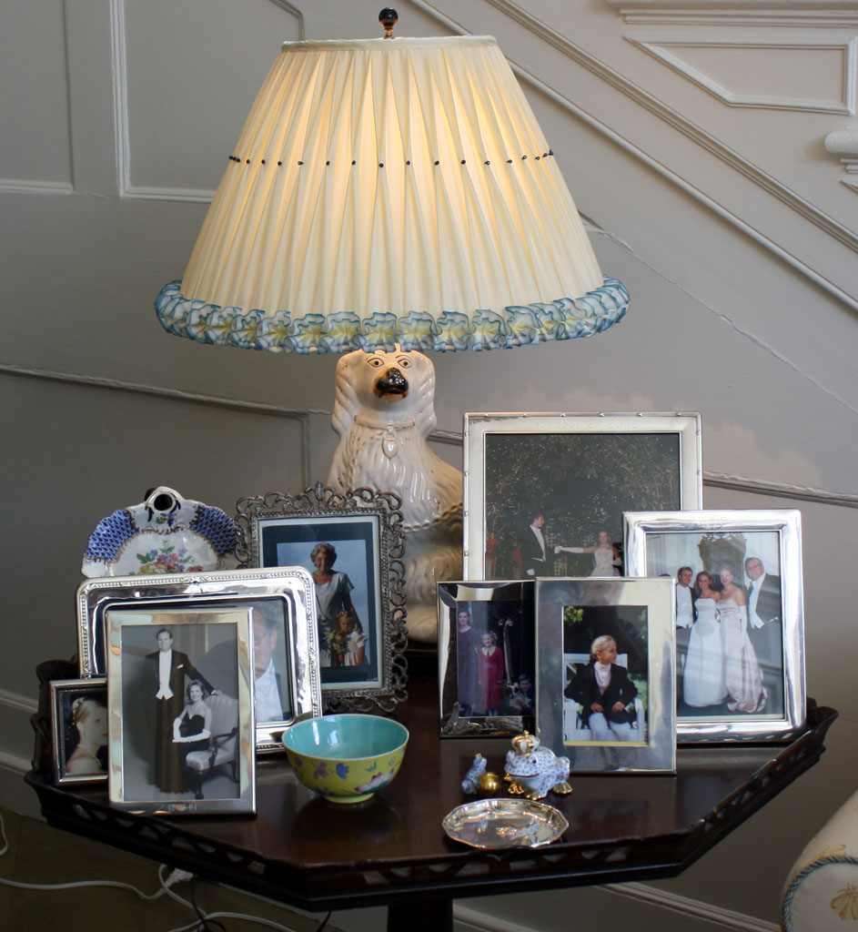 She Also Loves Staffordshire Dogs Silver Picture Frames Preferably Engraved And Exquisite Handmade Silk Lampshades With Dressmaker Details Advice