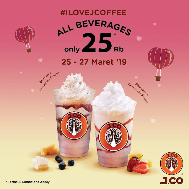 #JCO - #Promo JCoffee All Beverage Hanya 25K (25 - 27 Maret 2019)