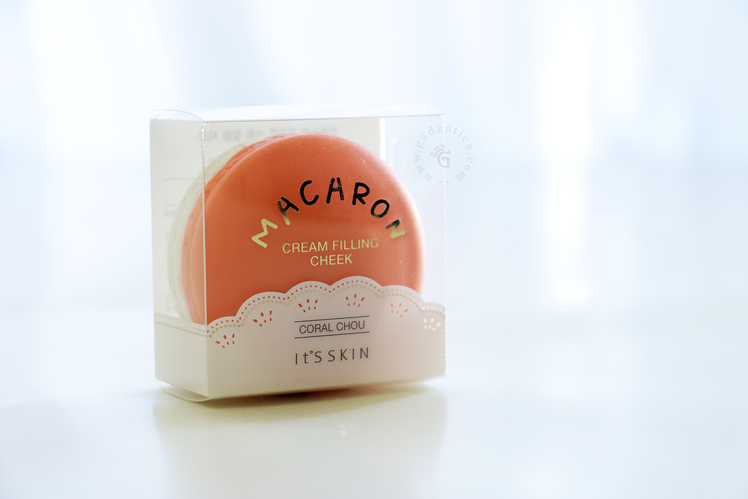 It's Skin Macaron Cream Filling Cheek - Coral Chou