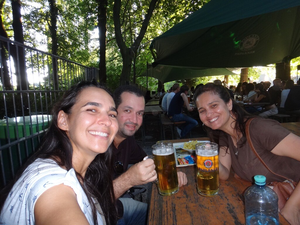 Biergarten da Paulaner em Munique