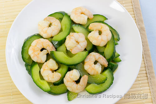 青瓜炒蝦仁  Stir-fried Cucumber with Prawns02