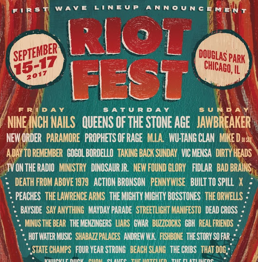 riot fest 2017 line-up announced