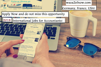 International Jobs for Accountants in Germany, France, and America 2018 | waza2efnow
